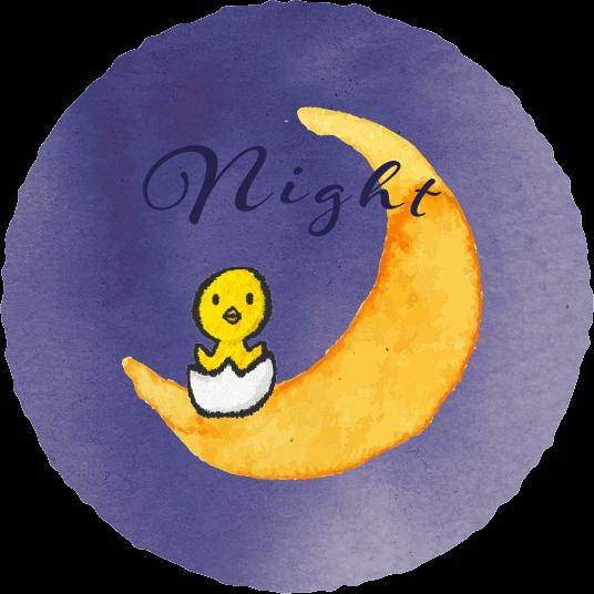 大型遊具ページ-夜のイラスト